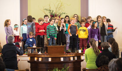 Children's Choir at the First Unitarian Universalist Society of Burlington